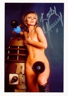 Katy Manning Signed Pictures In 2019 Hot Doctor Dalek