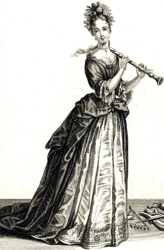 """""""Frau, die Blockflöte spielt"""" (1687)."""