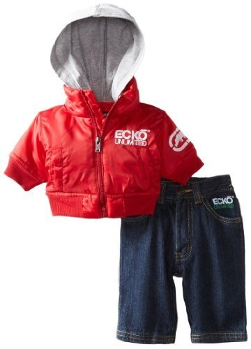 Calvin Klein Red And Black Clothes For Baby Boys