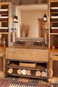 Love the sink... can still have two faucets, but it takes up less room... would make our bathroom feel bigger actually!