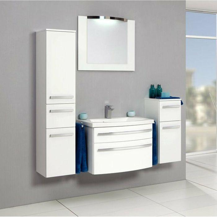 Wandschrank für Badezimmer weiß komplett Salle de bain - badezimmer wandschrank