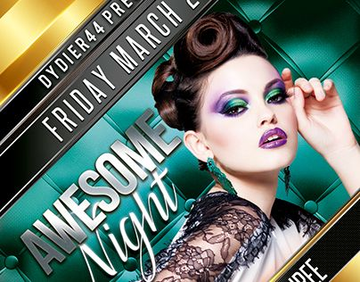 """Check out new work on my @Behance portfolio: """"Awesome Night (Flyer Template 4x6)"""" http://be.net/gallery/40792859/Awesome-Night-(Flyer-Template-4x6)"""