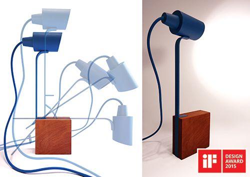 Esta luminária de mesa é marcada pela simplicidade de seu design e pela…