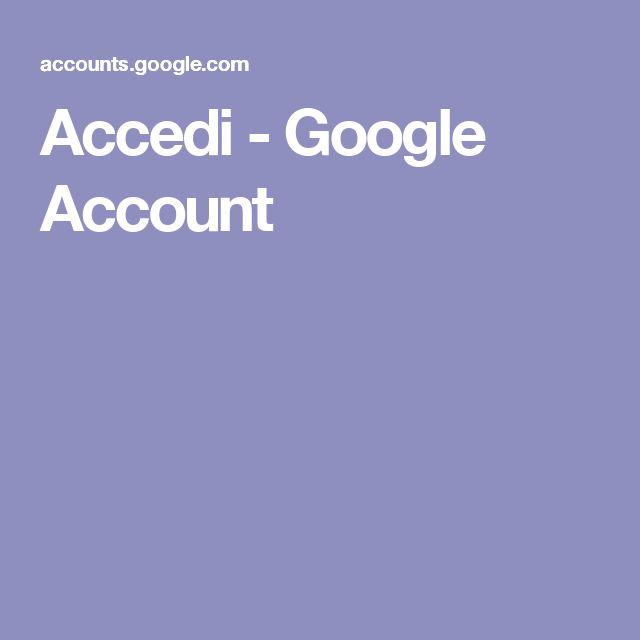 Accedi - Google Account