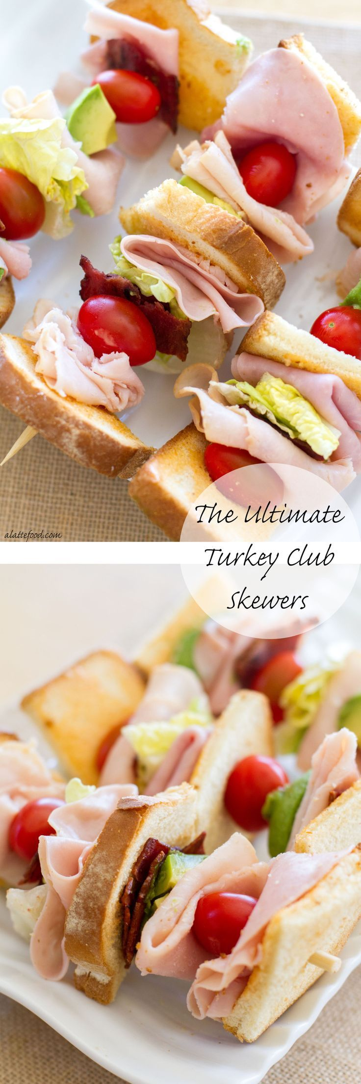These deconstructed turkey club sandwiches are packed with the works ...