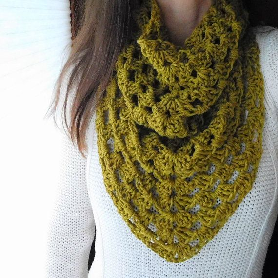 Hand Crochet Infinity Cowl Kerchief Scarf Pick Your Color On Etsy 32 00 Warmerstyle On