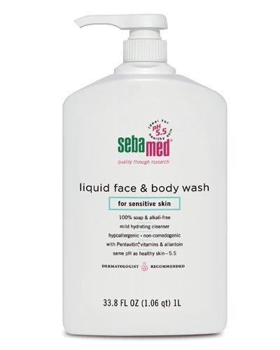 Sebamed Face and Body Wash, 33.8-Fluid Ounces Bottle***100% soap and alkali-free,Mild Hydrating cleanser,Hypoallergenic and non-comedogenic,Same pH as healthy skin  5.6,Dermatologist recommended,.