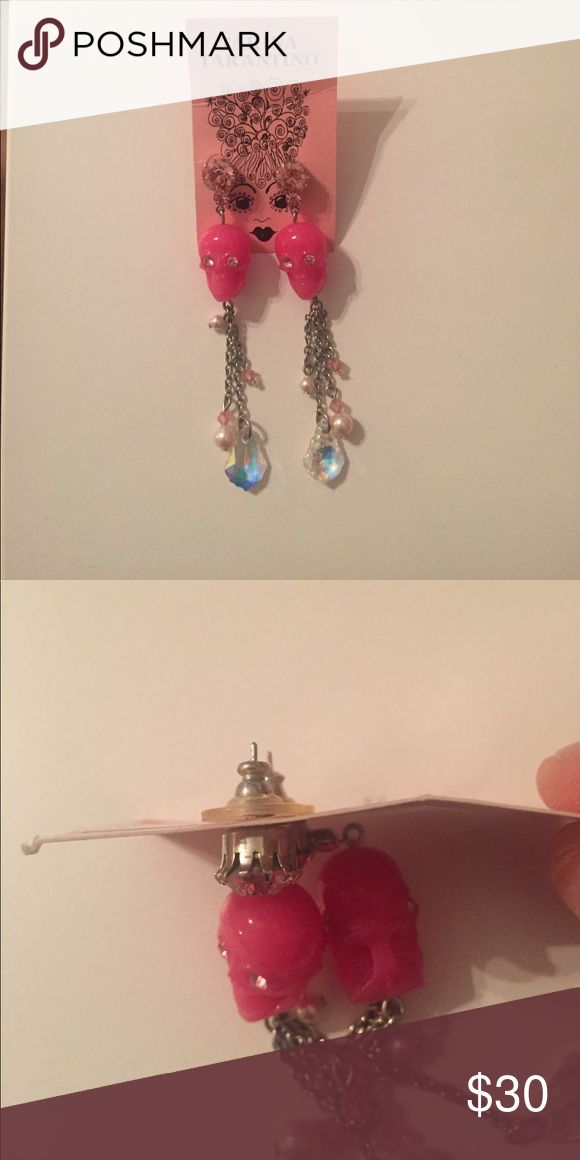 Tarina Tarantino pink skull earrings Tarina Tarantino pink skull earrings Tarina Tarantino Jewelry Earrings
