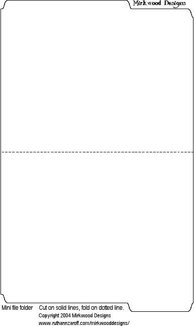 MINI MANILLA FILE FOLDER TEMPLATE minifolder.gif 384×644 pixels