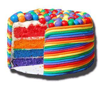 Torta colorata - Ricette per Carnevale