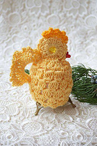Ostern Häkeln Huhn gemütlich Gehäkelt Hähnchen Ostern Tisch Haube Tabelle Baumwolle Osterei Dekoration Ei Abdeckung Küken Gelb Ei Wärmer Küche Dekor Frühjahr Deckel Ostern Geschenk