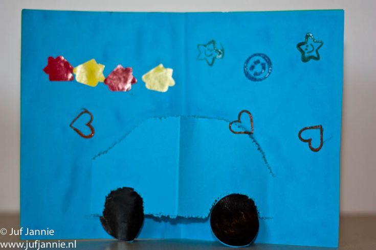 Pop-up kaart - knutselen - auto / pop-up card -  craft - car