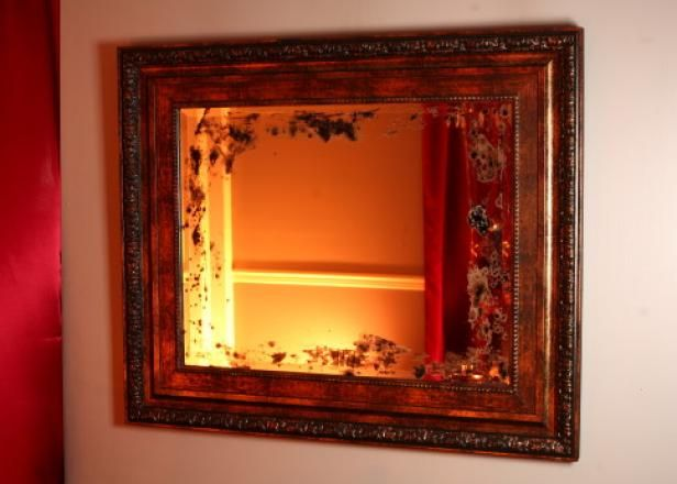 Why go to antique stores looking for the perfect vintage mirror when you can make your own?