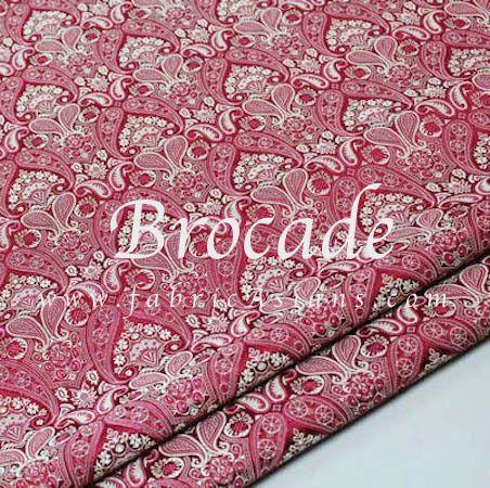 Tissu Paisley Bordeaux. Tissu Oriental. Vendu par 50cm. SB100933 : Tissus Habillement, Déco par fabricasians