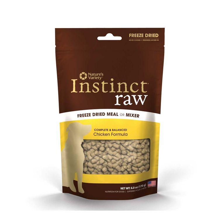 Natures variety instinct raw freeze dried dog food meal