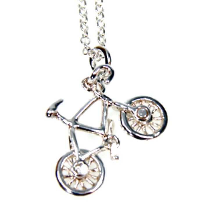 Sterling Silver Bicycle Pendant