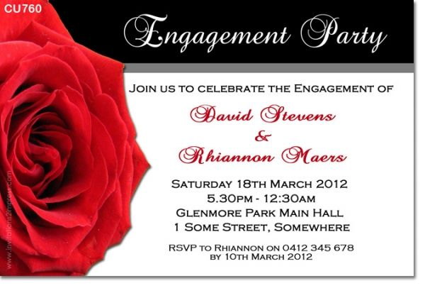 wwwinvitations2impress CU760 - Engagement Invitation with - engagement invitation cards templates