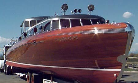 Wooden Boat = Thunderbird 55 speedboat on Lake Taho, built in 1939.    Research for possible future project.
