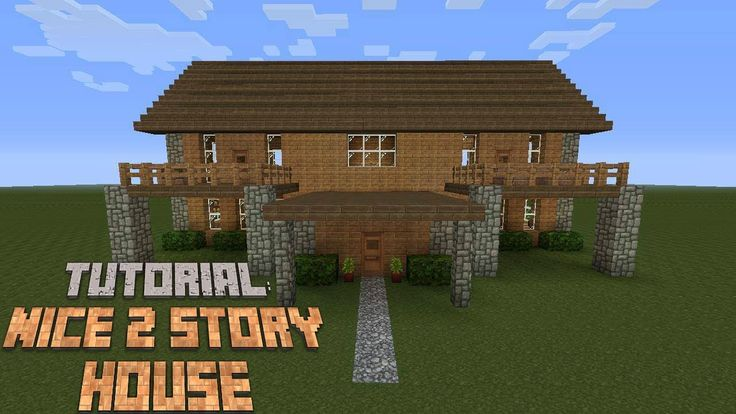 Minecraft how to build a nice 2 story house version 2 for What is needed to build a house