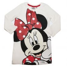 tricou lung ML Minnie - crem