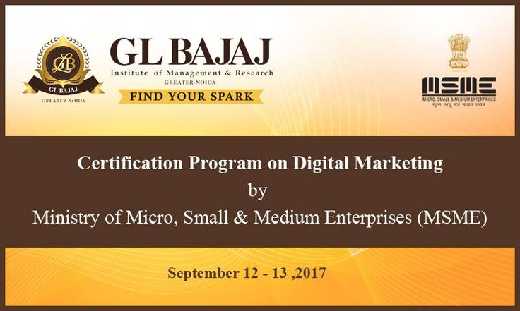 PGDM Batch 2017-19 Digital Marketing has become one of the most important elements of any business to grow and flourish in today's world. GLBIMR believes in need based customization of pedagogy. This Certification Program includes the concepts of strategies in Digital marketing, SEM, PPC Campaign, Display Advertising, Social Media Marketing, Content Marketing, Ad sense etc as a part of its module.
