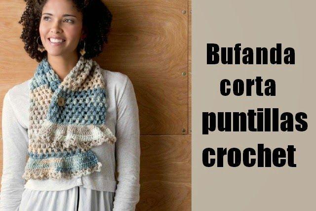 184 best bufandas images on Pinterest | Bufandas, Crochet bufanda y ...