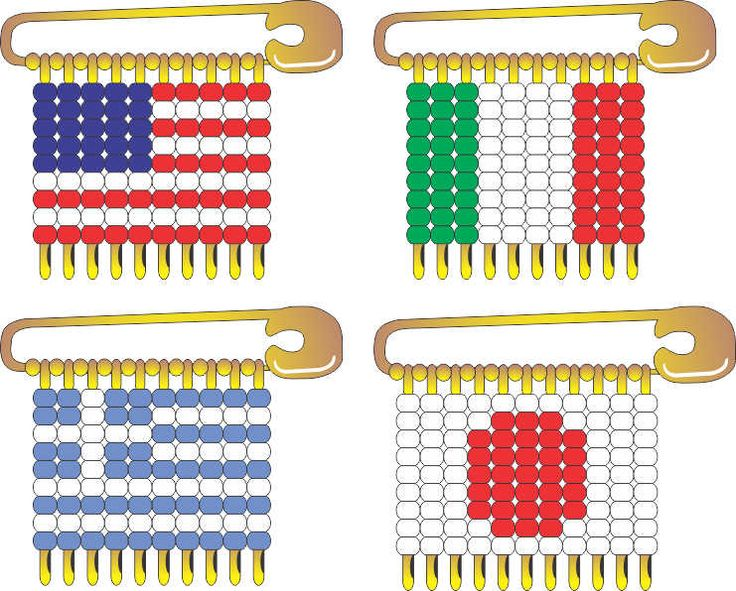 International Flag Pin Patterns available at MakingFriends.com.  Perfect for your Girl Scout Thinking Day or International celebration.