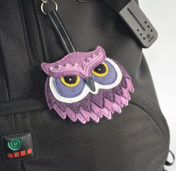 Owl Bag Charm / Keychain / Keyring / by CreaturesInStitches, £17.00