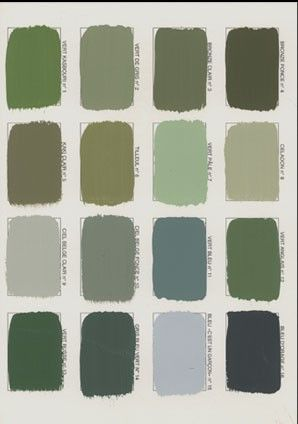 How to choose the exact shade of green: Green Ground, Ball Green, Stone White, Green Stone, Lichen, Olive, Cooking Apple Green, Saxon Green, Breakfast Room Green, Sutcliffe Green Card Room Green, Arsenic, Folly Green, Suffield Green, Pea Green, Calke Green, Green Minster? Would it be dark, supported, pulling yellow, acid, light, pale, soft, bluish, gray, milky, past or soft? Try several, like Goethe in Weimar.nuancier__mery