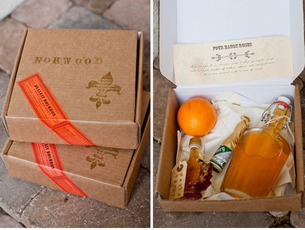 DIY Drink Boxes for Groomsmen