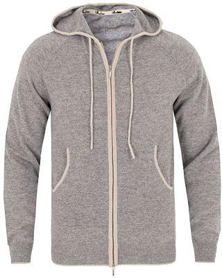 Stenströms Cashmere Full Zip Hood Grey i gruppen Tröjor / Huvtröjor hos Care of Carl (13059011r)