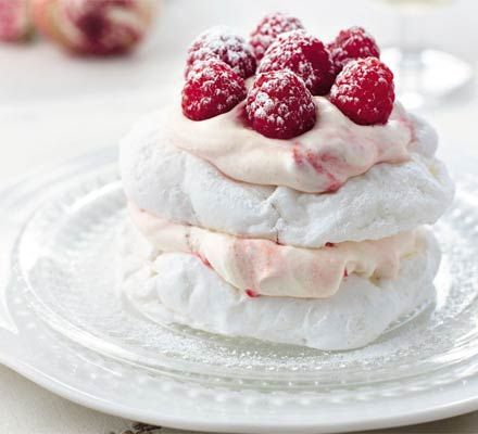 Eton mess stacks. We love individual puddings, they add a certain 'Je ne sais quoi' to an occasion. And these fab little meringues are definitely an occasion pudding.