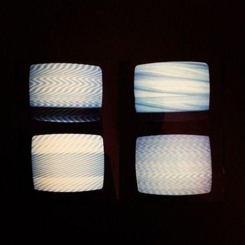 White Noise Experiment on CRT Television by Visarut Nutprayoon // TV Glitch White Noise