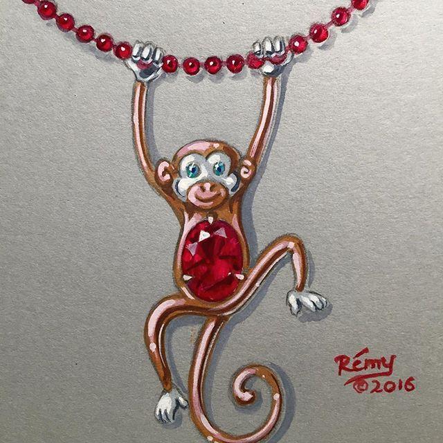 Happy Chinese New Year!                             #猴年大吉 #新年快乐 #chinesenewyear #yearofthemonkey #jewelry #jewellery #jewelrydesign #jewelryartist
