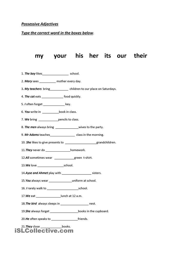 28 Best Pronouns Gor Images On Pinterest English Grammar