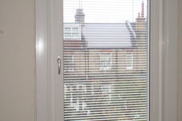 Internal view of #Integral blinds for Internorm's window systems