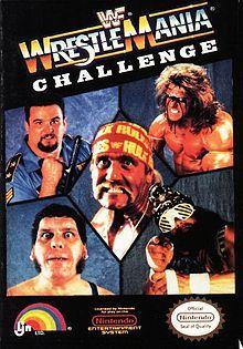 Wrestling game cover Art   WWF WrestleMania Challenge