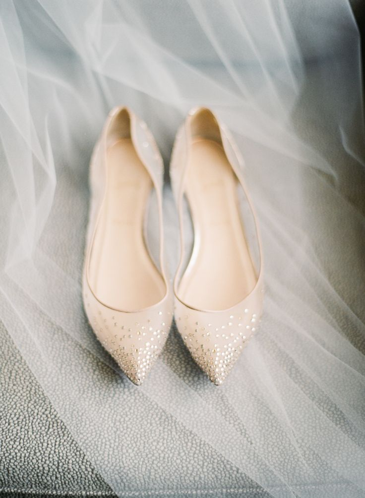 Nude + sheer Louboutin flats: Photography : The Youngrens Read More on SMP: http://www.stylemepretty.com/washington-dc-weddings/2016/03/01/classic-elegant-black-tie-d-c-wedding/