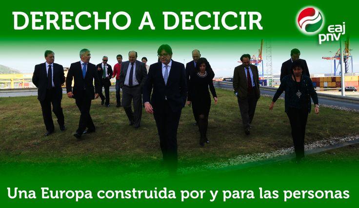 """Izaskun Bilbao: """"Derecho a decidir. Una propuesta construida por y para las personas""""."""