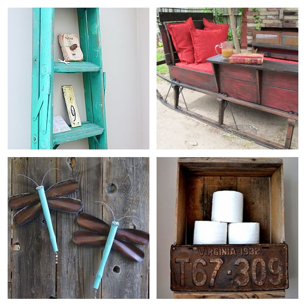 Salvage style projects old house