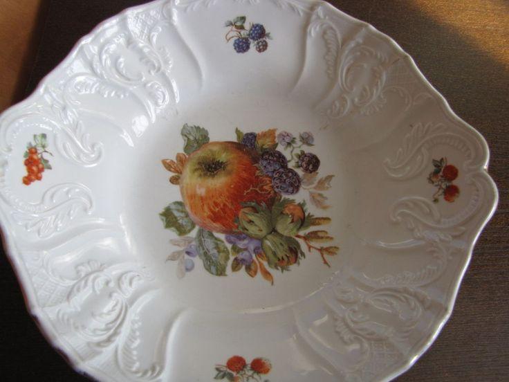 Russia empire Fruit Vase Plate MS Kuznetcov Kuznetsov Riga Lettland Kuznecov #Empire #KuznetcovFactory