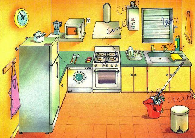 VOCABULARIO Láminas temáticas de expresión oral: La cocina https://picasaweb.google.com/MaestrosAyL/LAMINASTEMATICASEXPRESIONORAL