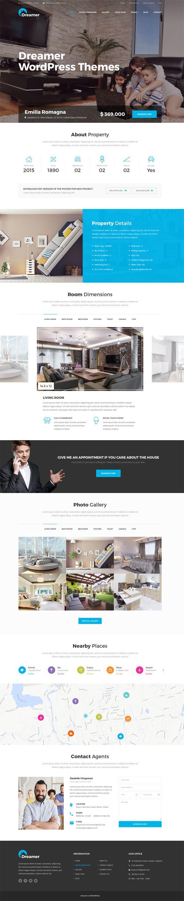 Dreamer - Single Property PSD Templates #psdtemplates #websitetemplates #webdesign