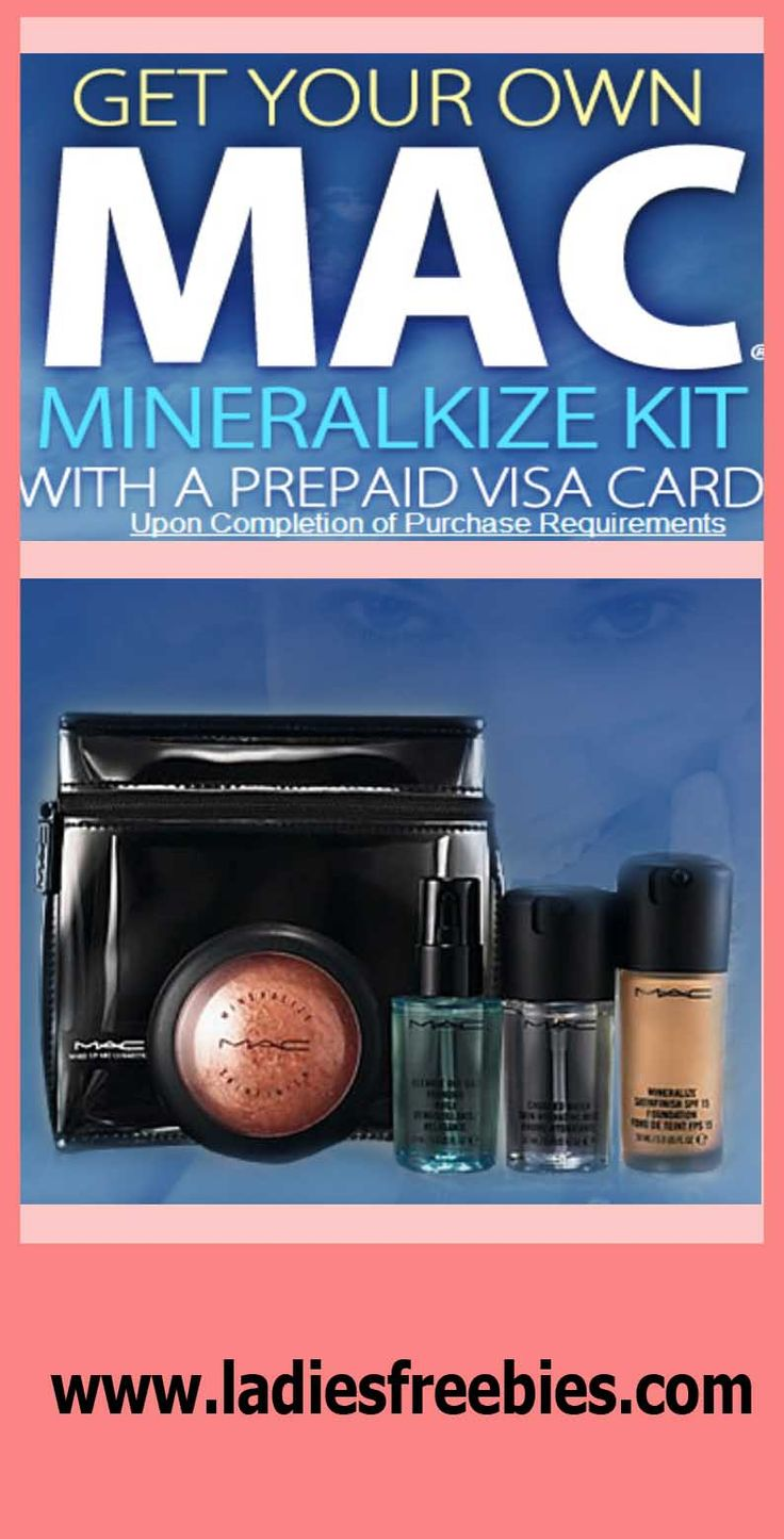 Get your own MAC Mineralized Makeup Kit with a prepaid visa card! Just visit ladiesfreebies.com!