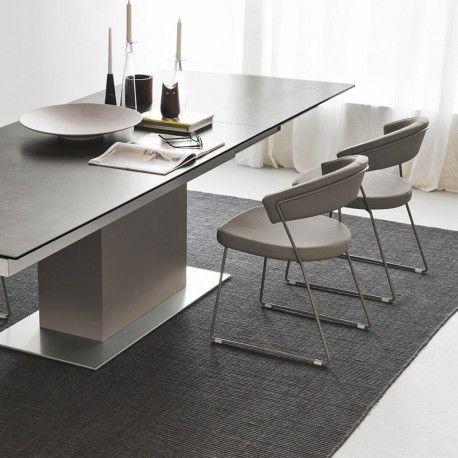 Calligaris sincro table in ceramic lead grey with matt taupe base for the home pinterest - Tavolo calligaris baron prezzo ...
