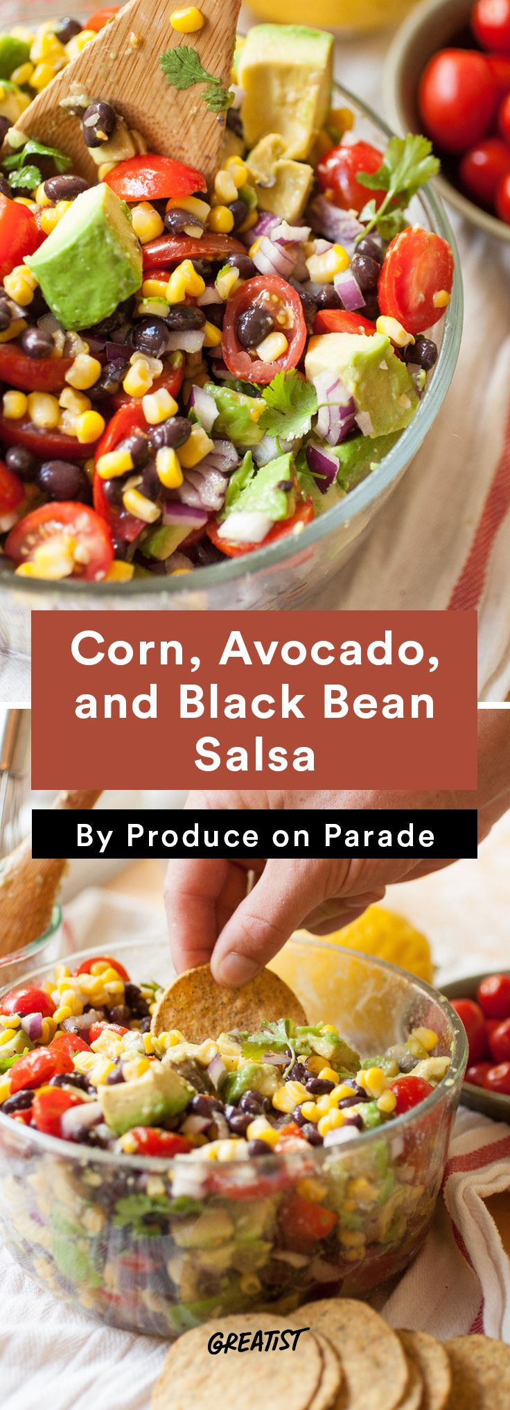4. Corn, Avocado, and Black Bean Salsa #healthy #dip #recipes http://greatist.com/eat/dip-recipes-way-better-than-the-classics