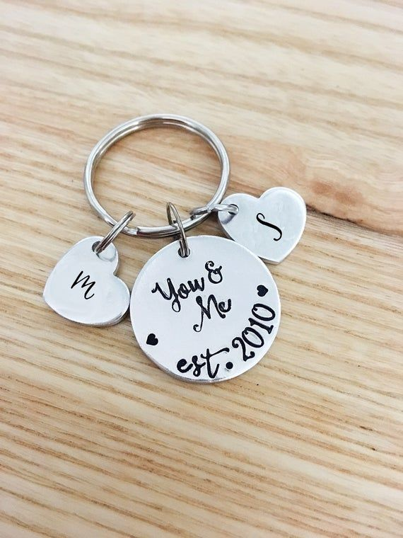 Personalised #1 Boyfriend Keyring in gift box ENGRAVED FREE