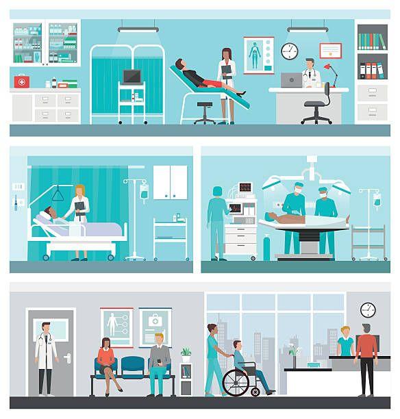 455 Ilustraciones Clipart Dibujos Animados E Iconos De Stock De Quirofano Hospitales Quirofano Vector