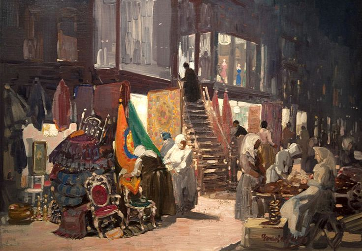 """George Luks, """"Allen Street"""".  The artists of the Ashcan School wanted to paint life, or in Henri's terms """"art for life's sake,"""" instead of """"art for art's sake"""".  To read the entire blog go to: https://www.thebrighamgalleries.com/legends-of-american-realism-the-ashcan-school/"""