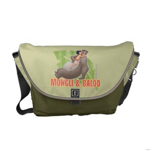 Jungle Book's Mowgli and Baloo Hugging Messenger Bag